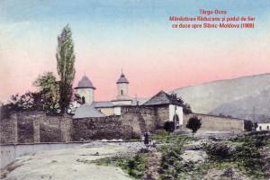 19 TO Manastirea Raducanu si podul de fier 1908 60x40 cm